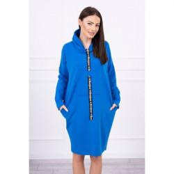 Šaty s kapucňou Bonjour MI0153 modré Univerzálna Modrá