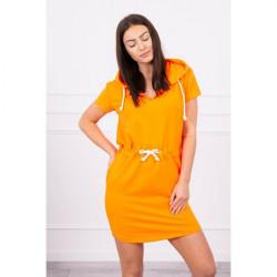 Šaty s vreckami a kapucňou MI8982 neónovo oranžové Univerzálna Oranžová/neón