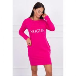 Šaty Vogue MI8922 fuchsia, Uni, Fuchsia
