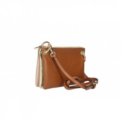 Set dámskych kožených kabeliek 5073 koňak MADE IN ITALY, koňak
