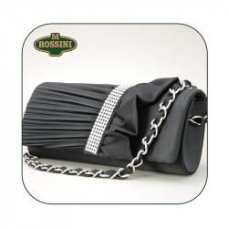 Spoločenská kabelka 105 čierna M.ROSSINI, čierna