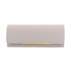 Spoločenská kabelka 399A béžová, Farba béžová Michelle Moon TA-ZL463-silver
