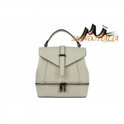 Talianska dámska kožená kabelka/batoh 508 béžová MADE IN ITALY, Farba béžová MADE IN ITALY ZINNIA M8964