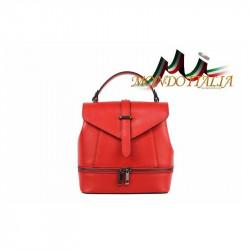 TALIANSKA DÁMSKA KOŽENÁ KABELKA/BATOH 508 ČERVENÁ MADE IN ITALY, Farba červená MADE IN ITALY ZINNIA M8964