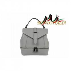 Talianska dámska kožená kabelka/batoh 508 šedá MADE IN ITALY, Farba šedá MADE IN ITALY ZINNIA M8964