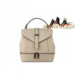 Talianska dámska kožená kabelka/batoh 508 šedohnedá MADE IN ITALY, Farba šedohnedá MADE IN ITALY ZINNIA M8964