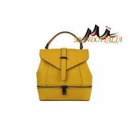Talianska dámska kožená kabelka/batoh 508 žltá MADE IN ITALY, Farba žltá MADE IN ITALY ZINNIA M8964