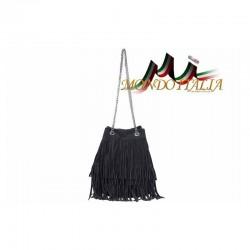 Talianska kabelka z brúsenej kože 429 čierna MADE IN ITALY 429