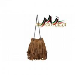 Talianska kabelka z brúsenej kože 429 koňak MADE IN ITALY 429