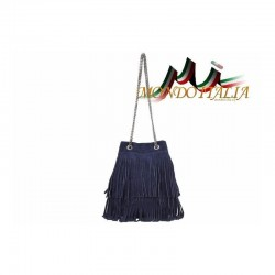 Talianska kabelka z brúsenej kože 429 modrá MADE IN ITALY 429