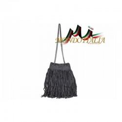 Talianska kabelka z brúsenej kože 429 tmavošedá MADE IN ITALY 429
