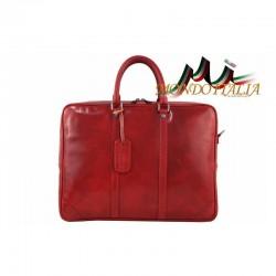 Talianska kožená aktovka 9013 červená MADE IN ITALY 9013
