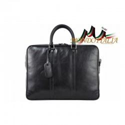 Talianska kožená aktovka 9013 čierna MADE IN ITALY 9013