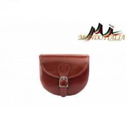 Talianska kožená crossbody kabelka 116B hnedá MADE IN ITALY 116B