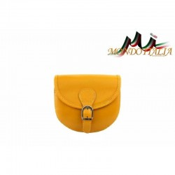 Talianska kožená crossbody kabelka 116B žltá MADE IN ITALY 116B
