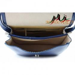 Talianska kožená crossbody kabelka 398 azurovo modrá MADE IN ITALY 398 #1