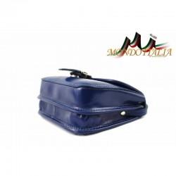 Talianska kožená crossbody kabelka 398 azurovo modrá MADE IN ITALY 398 #2