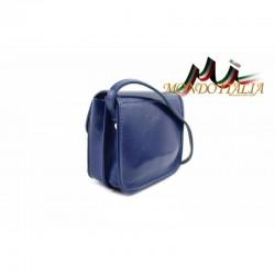 Talianska kožená crossbody kabelka 398 azurovo modrá MADE IN ITALY 398 #3
