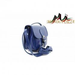 Talianska kožená crossbody kabelka 398 azurovo modrá MADE IN ITALY 398 #4