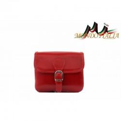 Talianska kožená crossbody kabelka 398 červená MADE IN ITALY 398