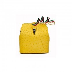 TALIANSKA KOŽENÁ CROSSBODY KABELKA 603C žltá MADE IN ITALY