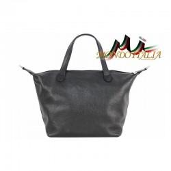 Talianska kožená kabelka 114 čierna MADE IN ITALY 114