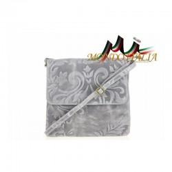 Talianska kožená kabelka 116 šedá MADE IN ITALY 116