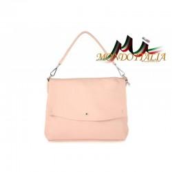 Talianska kožená kabelka 1195 ružová MADE IN ITALY