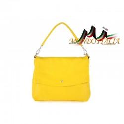 Talianska kožená kabelka 1195 žltá MADE IN ITALY