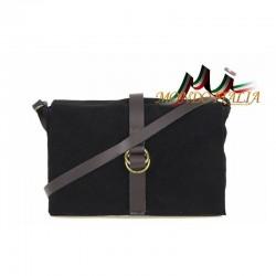 Talianska kožená kabelka 132 čierna MADE IN ITALY 132