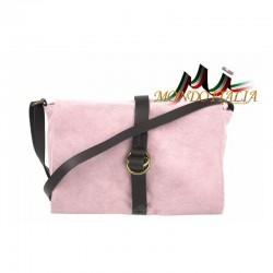 Talianska kožená kabelka 132 ružová MADE IN ITALY 132