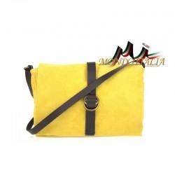 Talianska kožená kabelka 132 žltá MADE IN ITALY 132