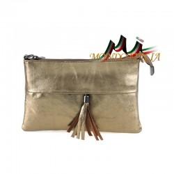 Talianska kožená kabelka 1423A bronzová, Farba bronzová