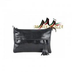 Talianska kožená kabelka 1423A čierna MADE IN ITALY 1423A
