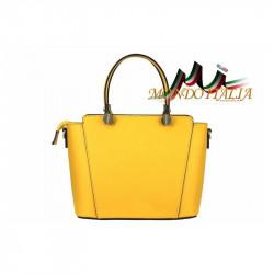 Talianska kožená kabelka 1461 žltá, žltá