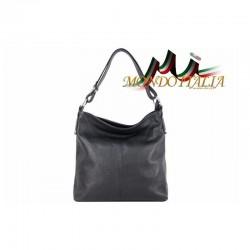 Talianska kožená kabelka 1461A čierna MADE IN ITALY 1461A