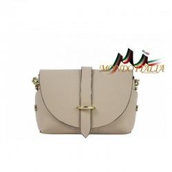 Talianska kožená kabelka 149 šedohnedá MADE IN ITALY 149