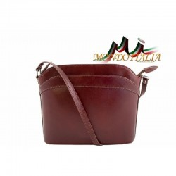 Talianska kožená kabelka 33 hnedá MADE IN ITALY 33
