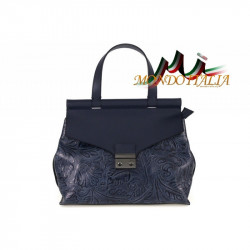 Talianska kožená kabelka 391 modrá MADE IN ITALY