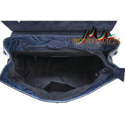 Talianska kožená kabelka 391 nebesky modrá MADE IN ITALY #1