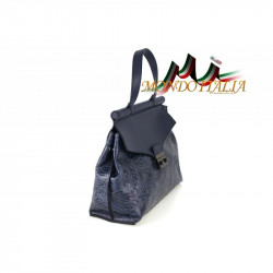 Talianska kožená kabelka 391 nebesky modrá MADE IN ITALY #2