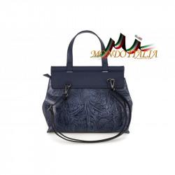 Talianska kožená kabelka 391 nebesky modrá MADE IN ITALY #3