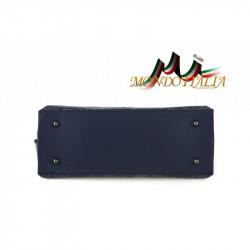 Talianska kožená kabelka 391 nebesky modrá MADE IN ITALY #4
