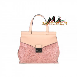 Talianska kožená kabelka 391 ružová MADE IN ITALY