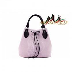 Talianska kožená kabelka 394 ružová MADE IN ITALY 394 77a93dc9d7e