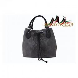 Talianska kožená kabelka 394 šedá MADE IN ITALY 394