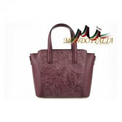Talianska kožená kabelka 395 bordová MADE IN ITALY 395
