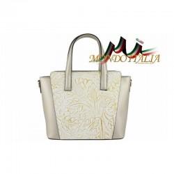 Talianska kožená kabelka 395 zlatá MADE IN ITALY 395