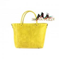 TALIANSKA KOŽENÁ KABELKA 405 žltá MADE IN ITALY
