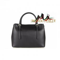 Talianska kožená kabelka 4300 čierna MADE IN ITALY 4300
